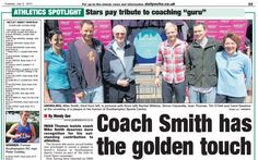 """Nice headline from the Souther Daily Echo on our Join In plaque unveiling with Iwan Thomas: """"Coach Smith has the golden touch"""" Mike Smith, The Minute, Athlete, Coaching, Join, Touch, Nice, Training, Nice France"""