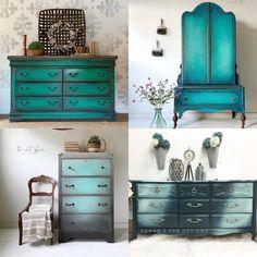 Furniture Makeover, Diy Furniture, Refurbished Furniture, Vintage Furniture, Furniture Refinishing, Repurposed Furniture, Rustic Furniture, Green Distressed Furniture, Glazing Furniture