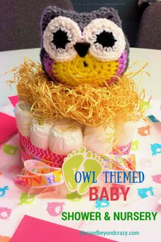 Adorable Owl Themed Baby Shower and Nursery - #blessedbeyondcrazy #babyshower #nursery