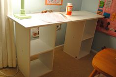 DIY Desk with cheap bookshelves from Walmart or Target...
