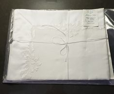 """Jabara linens - Hand Embroidered in Madeira Portugal for Jabara Ltd - Pillowcase Sham - 21"""" x 26"""" by JCMNATURALREMEDIES on Etsy Pompano Beach Florida, Florida Beaches, Father's Day Specials, Pillowcases & Shams, Mothers Day Special, Glass Cube, Colorful Socks, Fine Linens, Antique Items"""