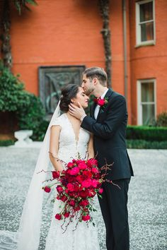 Elegant Christmas wedding at the Mansion on Forsyth. Photography by Izzy Hudgins.  Planning and Styling by Ivory + Beau. See more on Savannah Soiree: http://www.savannahsoiree.com/journal/elegant-christmas-wedding-at-the-mansion-on-forsyth