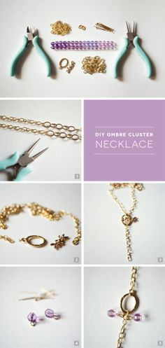 Gorgeous Ombre Cluster DIY Necklace