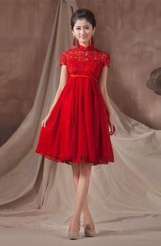 robe de mariage rouge longue chinoise  chinois  Pinterest  Mariage ...