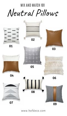 Mix and Match 101 - Pairing Neutral Pillow with Hofdeco! Mix and Match 101 - Pairing Neutral Pillow with Hofdeco! Mix and Match 101 - Pairing Neutral Pillow with Hofdeco! Mix an. Leather Throw Pillows, Modern Throw Pillows, Diy Pillows, Couch Pillows, Cozy Couch, Decorative Bed Pillows, Living Room Pillows, Charcoal Couch, Winter Bedroom