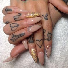 "vanityprojectsnyc: ""Miami based @netta2hot will be in NYC June 20-23!! Book now!! #nailart #vanityprojects "" #fingertattoos"