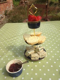 Teacup and saucer turned into afternoon tea for two cake-stand.