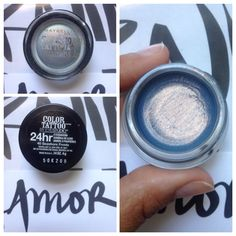 Limited Ed Maybelline Color Tattoo in Sea Shore Frosts; no longer available. Swatched. $10.