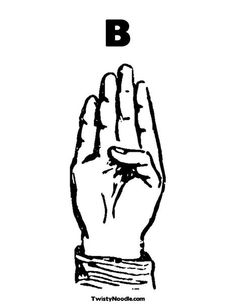 B Sign Coloring Page