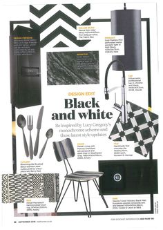A lovely monochrome inspired feature from Real Homes Magazine featuring our Virtue Semi Pro mixertap. Kitchen Trends, House And Home Magazine, Monochrome, Latest Fashion, Homes, Colours, Inspired, Black And White, Metal