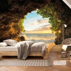 relaxing 3D nature wallpaper ideas for bedrooms  +30 Stylish 3D wallpaper murals for living room walls  Move into the atmosphere of the spring garden, enjoy realistic sea spaces or recreate the mystery of the night city - which option do you like? Choose the best story for the walls among our 3D wallpaper designs for the living room walls.