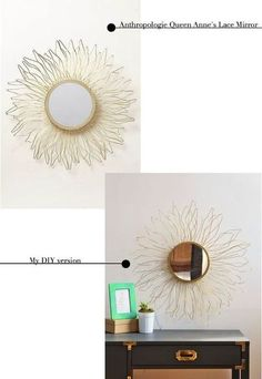 Make an Anthro-inspired starburst mirror with styrofoam and wire