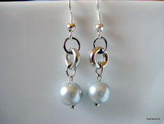 Grey Pearl Earrings, Pearl Drop Earrings, Bridesmaid Earrings, Pearl Jewelry, Silver Pearl Earrings, Gray Pearl Earrings, Bridesmaids Gift