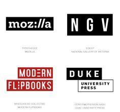 Logo Design Trends 2017 - Text Boxes