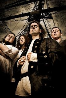Alestorm. They dress up and sing songs about being pirates. It is simultaneously the dorkiest and most awesome thing ever.
