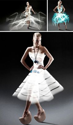 Invisible Apparel: Material-Free Dresses Made of Light | Urbanist