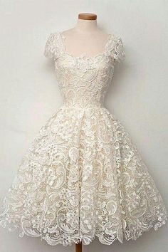 homecoming dresses,cute white lace short prom dress, lace bridesmaid dress