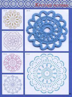 Nice crochet motifs