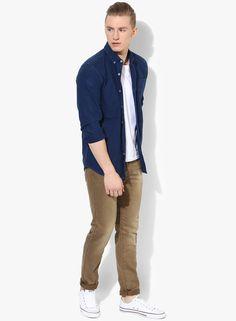 Buy SPYKAR Brown Washed Slim Fit Jeans Online - 5574501 - Jabong 960c18402