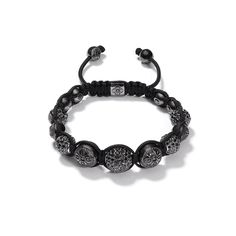 black diamonds Shamballa Bracelet