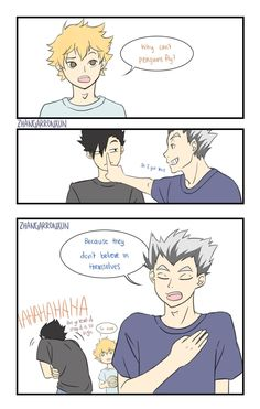 stop spreading false information to the children, Bokuto Haikyuu Manga, Haikyuu Funny, Haikyuu Fanart, Hinata, Haikyuu Volleyball, Volleyball Anime, Kagehina, Kuroo, Manhwa