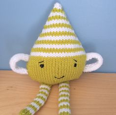 Handmade knitted monster Drip Drop by OnlyOneKnitToys on Etsy
