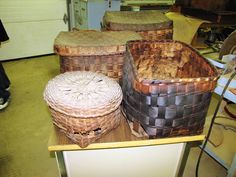 Barkhamsted Lighthouse Baskets from Barkhamsted CT. - in a Private Collection - Photo taken by Coni Dubois 2010