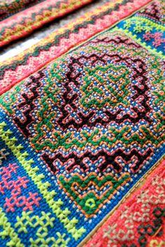 Vintage Hmong Fabric handmade tapestry