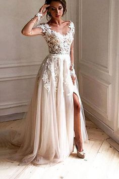 DESCRIPTION This+dress+could+be+custom+made,+there+are+no+extra+cost+to+do+custom+size+and+color. Description 1,+Material:Satin,lace,tulle 2,+Color:+picture+color+or+other+colors,+there+are+126+colors+are+available,+please+contact+us+for+more+colors, 3,+Size:+standard+size+or+custo...