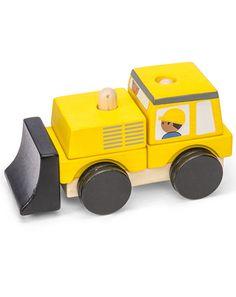 Holz Steckspielzeug Bulldozer