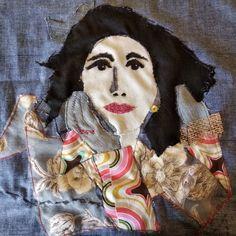 Rosita #fabricportrait Painting, Art, Art Background, Painting Art, Kunst, Paintings, Performing Arts, Painted Canvas, Drawings