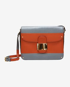Colorblock Flap Square Bag:  #INTERMIX #SWEEPSTAKES