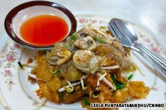 thip hoi thot pu-khao - a variation of one of my favorite dishes - tod naman hoi (fried oysters)
