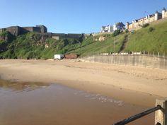 Tynemouth long sands beach 7.14 am 9 th July 2015 www.tynemouthwebcam.com