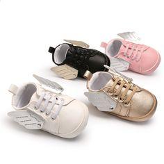 5771508322d9 CX57 New Arrivel Fashion PU Læder Nyfødte Baby Sko Spædbarn Toddler Boy Girl  Angel Wings Sko First Walkers Shoes