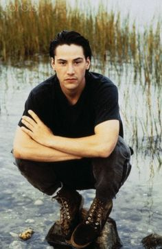 "I love me some older Keanu, but as a young, ""brooding hunk"", I want to punch him in the face. In a loving way, of course."