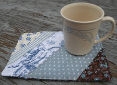 Mug Rug Snack Mat Table Quilt Folk Art called by NoJumbledDucks