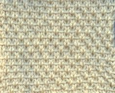 Bee Stitch (odd number of stitches)Row 1: Knit Row 2: (Right Side): *(K1, K1b...