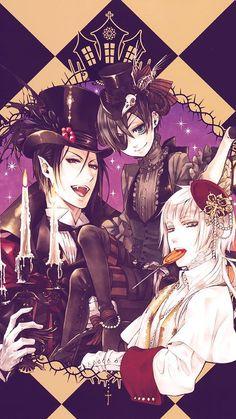 Kuroshitsuji Halloween #anime black butler ciel sebastian