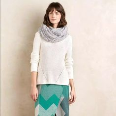 """Anthropologie Moth High Low sweater Moth Ivory High Low turtleneck sweater, hand wash, has small pen stain on back of right arm but it's very small and unnoticeable when worn, front measures 21"""" from shoulder to hem and back measures 29"""" from shoulder to hem. Anthropologie Sweaters Cowl & Turtlenecks"""