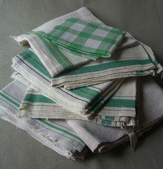 Vintage Linen Tea Towels | Sheila Zeller Interiors