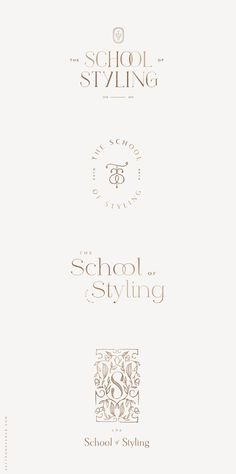 A Chic Logo Design for The School of Styling - Saffron Avenue Brand Identity Design, Graphic Design Branding, Logo Branding, Web Design, Modern Logo Design, Design Layouts, Flat Design, Design Trends, Calligraphy Logo