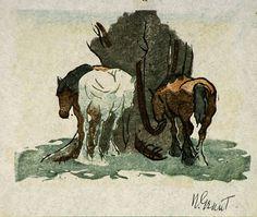 Nancy Grant  (1903/07 - in or after 1996)  Australian linocut printmaker.