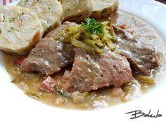 Znojemska´ Czech Recipes, Steak, Pork, Food And Drink, Beef, Kale Stir Fry, Meat, Steaks, Pork Chops
