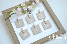 Photo frame display decorated with Stampin Up Botanical Builder / blooms 2016 occasions catalogue