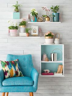 Whether you're renting an apartment or a house, these quick and easy decor ideas will let you add personality, color and style to your living space without violating your rental agreement. We included ideas for plants, light fixtures, fabric panels, shelving, rugs and more.