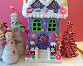 Purple candy land ornament or house.