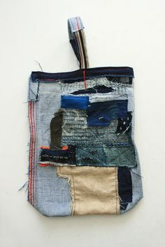Items similar to Selvedge Jean Tote Bag with, sashiko and appliqué on Etsy Fabric Bags, Fabric Scraps, Boro, Make Do And Mend, Recycle Jeans, Japanese Textiles, Denim Bag, Purses And Bags, Jean Purses