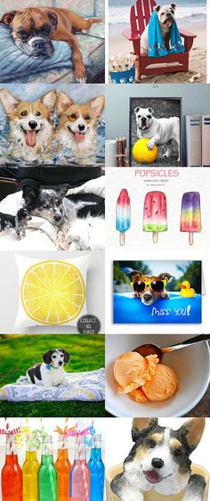 Dog Days of Summer by Joanie on Etsy--Pinned+with+TreasuryPin.com