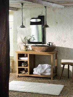 Architecture Home Design Projects Inspirations for Yours Arredo Bagno Legno Mobile In American Style XLAB Design Xlab Adesivi Murali E Rustic Bathroom Sinks, Zen Bathroom, Diy Bathroom Remodel, Bathroom Interior, Small Bathroom, Bathroom Ideas, Bathroom Inspiration, Interior Inspiration, Casa Milano